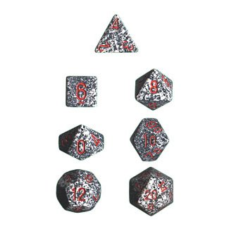 Polyhedral 7-Die Chessex Dice Set - Speckled Granite
