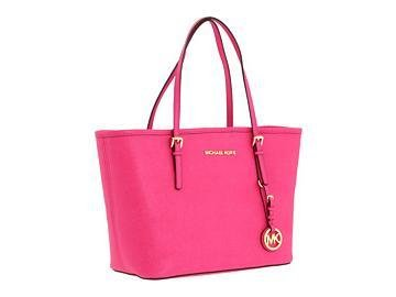 Michael Kors Jet Set Travel Small Pink Zinnia Tote