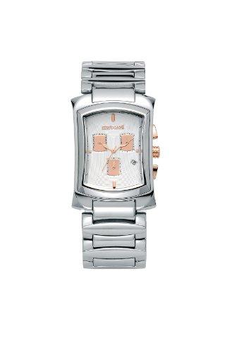 Roberto Cavalli - 7253900015 - Tomahawk - Montre Homme - Quartz Analogique - Bracelet Acier - Fond Blanc Et Rose