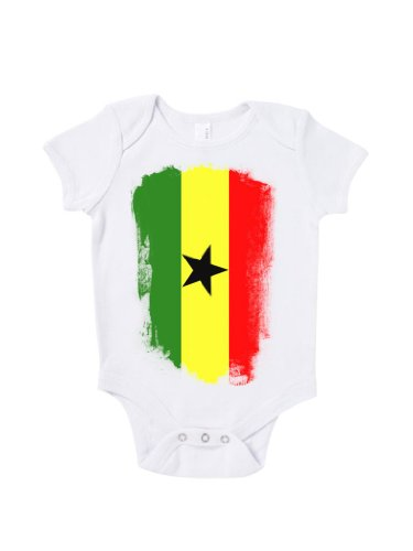 Blue Ivory Ghana Distressed Flag Baby Grow Road To World Cup Brazil 2015 front-832466