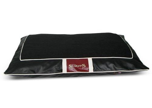 Scruffs Monaco Faux Leather Pet Bed Pillow, Black