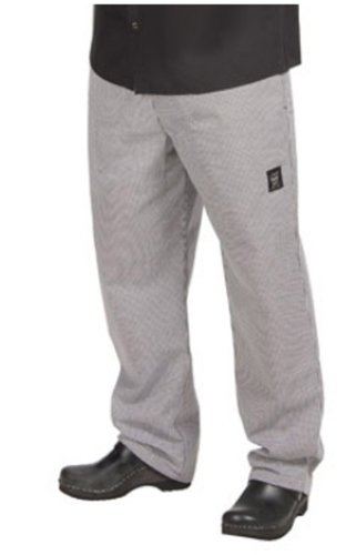 Chef Revival P020HT-L Poly Cotton Hounds Tooth Pattern Basic Chef's Pant with 2 Side and 2 Rear Pockets, Large (Chef Pants With Side Pocket compare prices)