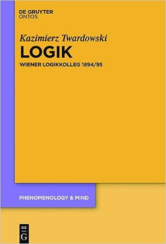 Logik. Wiener Logikkolleg 1894/95 Book Cover