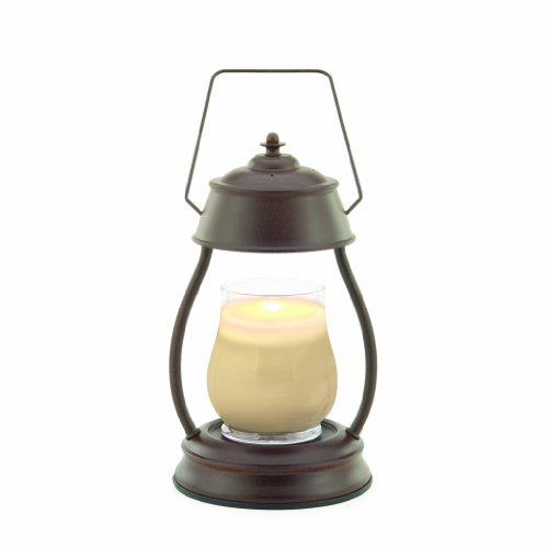 Hurricane Candle Warmer Lantern - Rustic Brown Candle Warmers Etc. B001NSVFDY