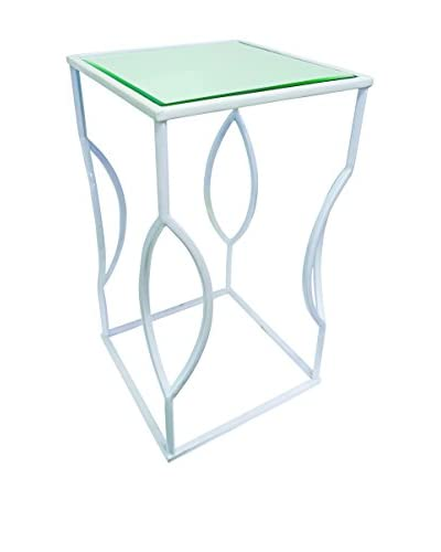 Couture Venice Table, High Gloss White/Clear As You See
