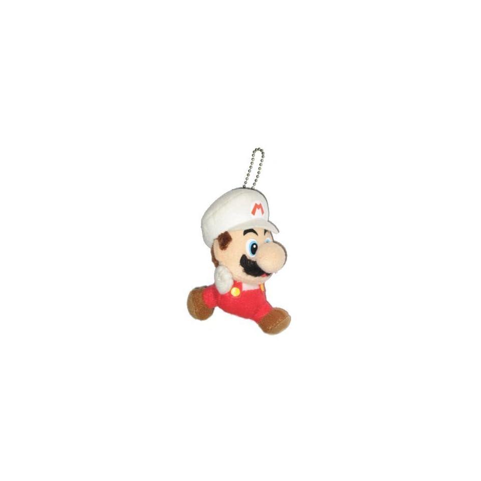 Nintendo Super Mario Bros. Fire Mario Plush Keychain