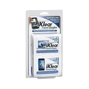 Klear Screen iKlear Travel Singles for iPad, iPhone, Galaxy, LCD, Plasma TV, Computer Monitor and Keyboard