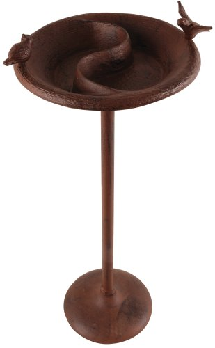 Cheap Esschert Design Birdbath & Feeder on Stand-Antique Brown (FB-116)