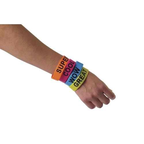 Dozen Assorted Jumbo Rubber Band Inspiration Bracelets