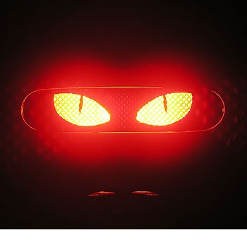 CAT EYES - 3rd Third Brake Light Vinyl Decal Mask Kit #1073 | Vinyl Color: Black