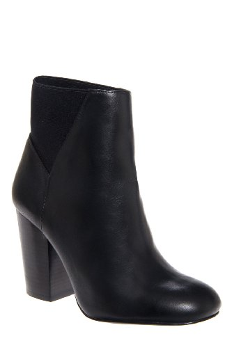BCBGeneration Lillyan Chunky High Heel Round Toe Pull On Bootie