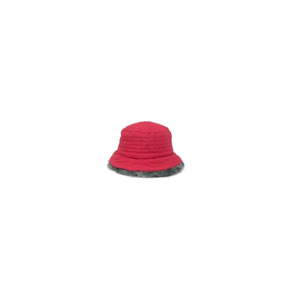 f6f5b7e8c220a NINE WEST Quilted Bucket Hat with Faux Fur