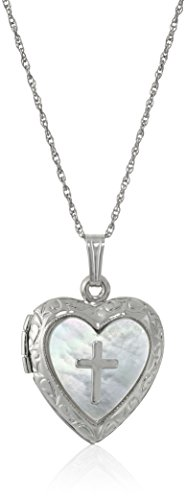 Sterling Silver Heart and Mother-of-P…