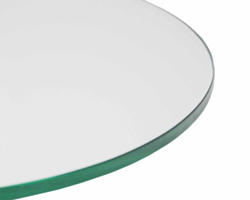 Round Glass Table Thick Polished