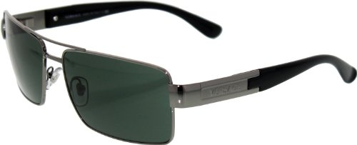edac95561e7b Versace VE2041 Sunglasses-100171 Gunmetal (Green Lens)-60mm Cheap ...