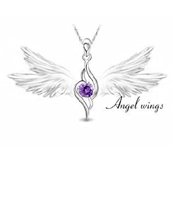 Celebrity Jewellery Angel Wings Shaped Austrian Crystal Silver Plated Love Necklace for Women Gift