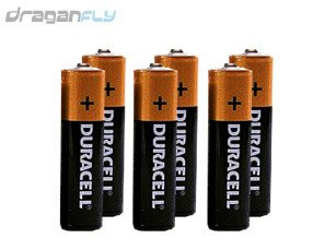 6 (Six) Alkaline AA Batteries For Your Transmitter