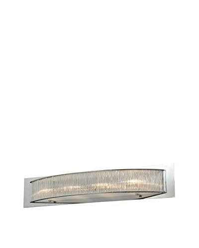 Alternating Current Array 4-Light Wall Sconce, Polished Chrome/Glass