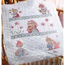 Bucilla 45013 Baby Ensemble- Snuggle Bunny Crib Cover front-87844