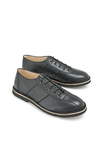 ikon-marriott-nero-in-pelle-casual-swinging-60s-quando-mod-rocked-scarpe-da-bowling-nero-black-donne