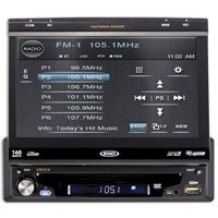Jensen VM9214 Single DIN Multimedia Receiver with 7-Inch Flip out Touch Screen