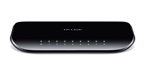 TP-LINK 8-Port Gigabit Desktop Switch, 10/100/1000Mbps, 16 Gbps Switching, Black (TL-SG1008D)