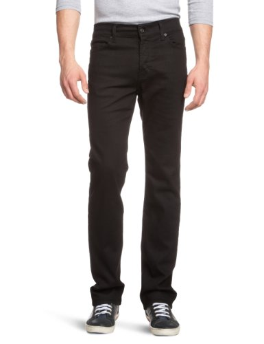 7 For All Mankind Men's SMNJ080DH Straight Leg Jeans Black Deep Chicago 31/34