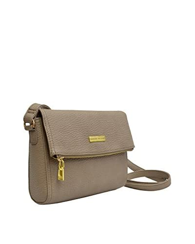 Adrienne Vittadini Women's Flap Top Crossbody, Taupe