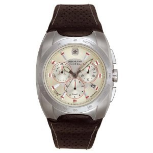 Swiss Military Hanowa Men's 06-4091-04-002 Challenger Silver Dial Leather Strap Watch