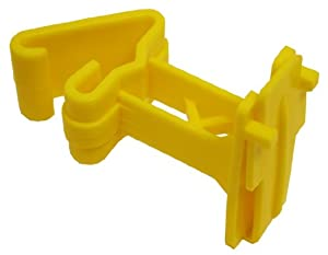 Zareba ITTY-Z T-Post Poly Tape Insulator, Yellow, 25 per Bag