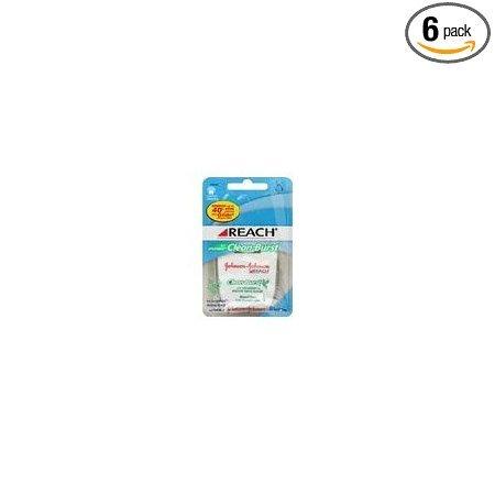 Reach Clean Burst Dental Floss, Waxed, Icy Spearmint, 100 Yard Dispensers (Pack of 6)