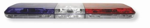 "Star Sabre Halogen Police Special Light Bar; 46"" - Red/Clear/Blue"