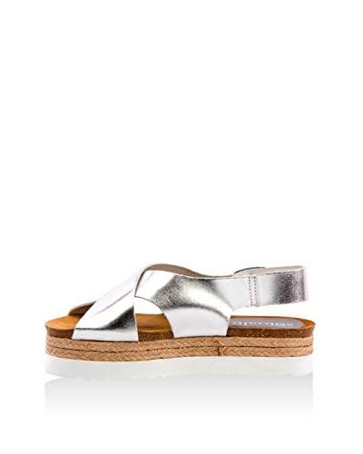 SOTO ALTO Sandale silber