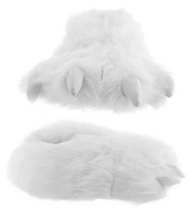 Wishpets Adult & Children Size White Polar Bear Paw Slippers