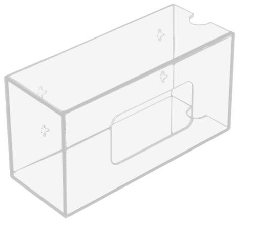 trippnt-50831-clear-acrylic-single-side-loading-glove-box-holder-10-width-x-6-height-x-4-depth