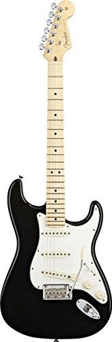 Fender American Standard Stratocaster Electric Guitar, Maple Fingerboard - Black