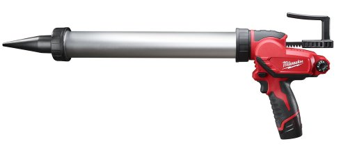 Milwaukee M12 PCG/400A-151B 400ml Caulking Gun Aluminum Tube with 1 x 1.5Ah Li-Ion Battery