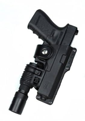 Fobus Roto Tactical Speed Holster Belt RH T1911RB Full size1911 holds Handgun with Laser or Light