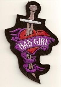 BAD GIRL KNIFE Embroidered FUN Quality Biker Vest Patch