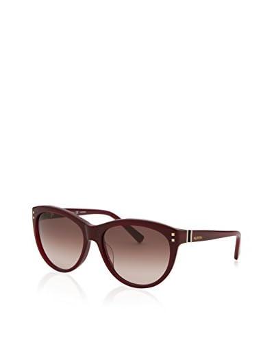 Valentino Women's 642S-606-55 Designer Sunglasses, Red