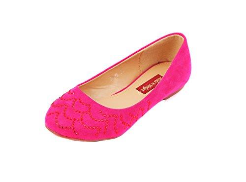 Heels N Wedges Ballet Flats For Women - B00N8IHROS