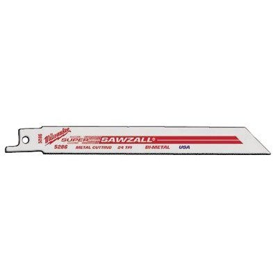 Milwaukee (Mlw48-00-5183) Bi Metal 18 Tpi 4In. Sawzall Saw Blade 5/Pk