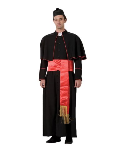 Tabi's Characters Men's Cardinal Pope Theatrical Costume