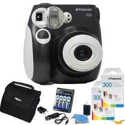 Polaroid 300 Instant Camera, Black Value Bundle