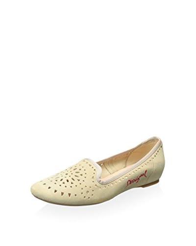 Desigual Women's Ballerina Flat  [Beige]