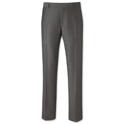 Charles Tyrwhitt Grey mohair tailored fit Black Label suit trouser (30W x 38L Unfinished)