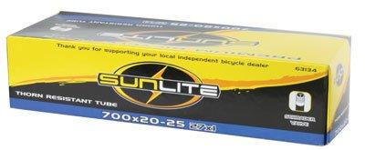 Sunlite Thorn Resistant Schrader Valve Tube, 700 x 20-25  / 32mm, Black
