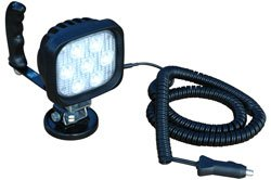 Hand Magnetic Led Light - 7, 3-Watt Cree Leds - 100Lb. Grip Magnetic Base - 675'L X 50'W Spot Beam(-