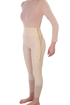 Contour Style 2 - Mid Calf Girdle 4in Waist - Small - Beige