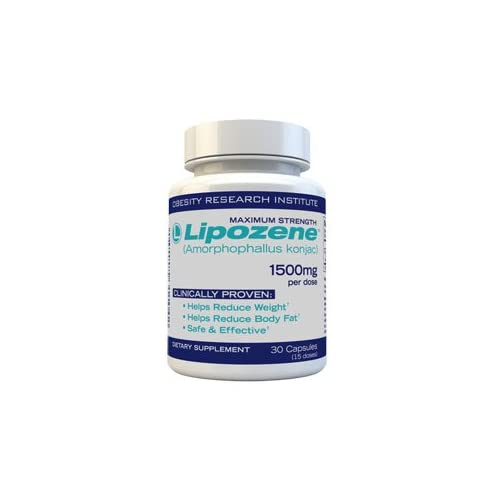 Maximum Strength Lipozene (Amorphophallus konjac)1500mg per dose lose pure body fat! In a double blind study not only did participants lose weight but 78% of weight lost was pure body fat! Clinically proven to help reduce weight, helps reduce body fa...